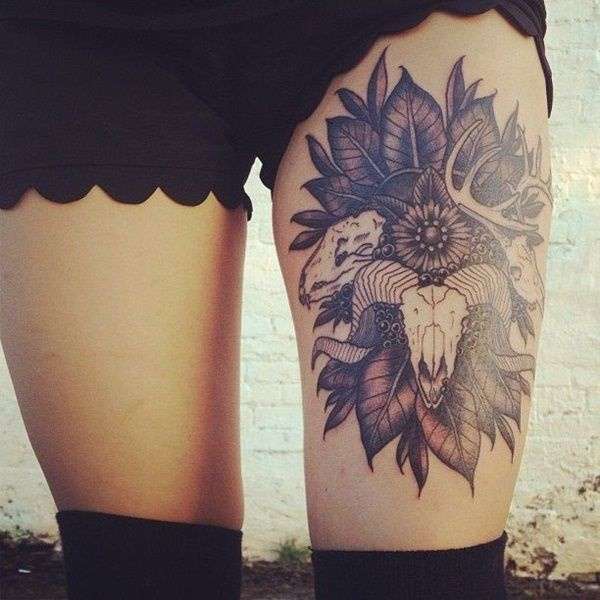 female leg tattoos ideas (3)