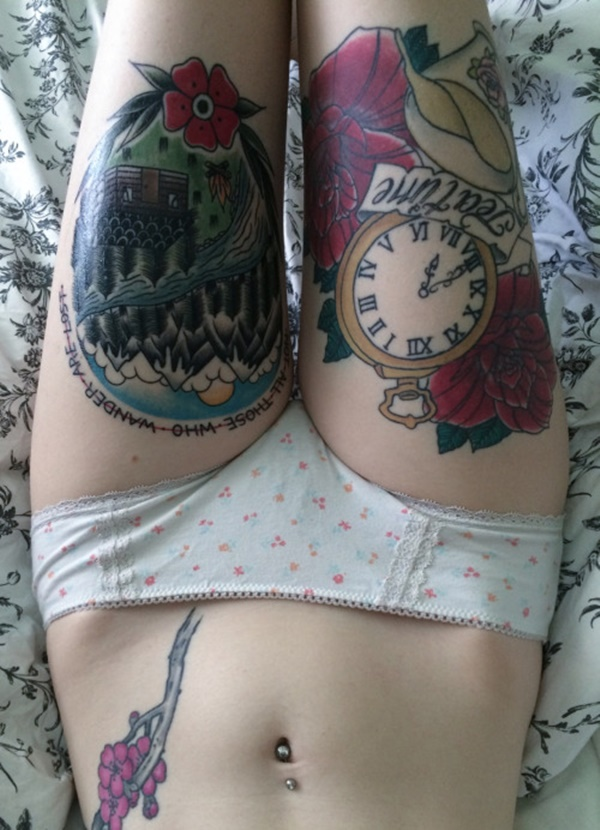 female leg tattoos ideas (50)