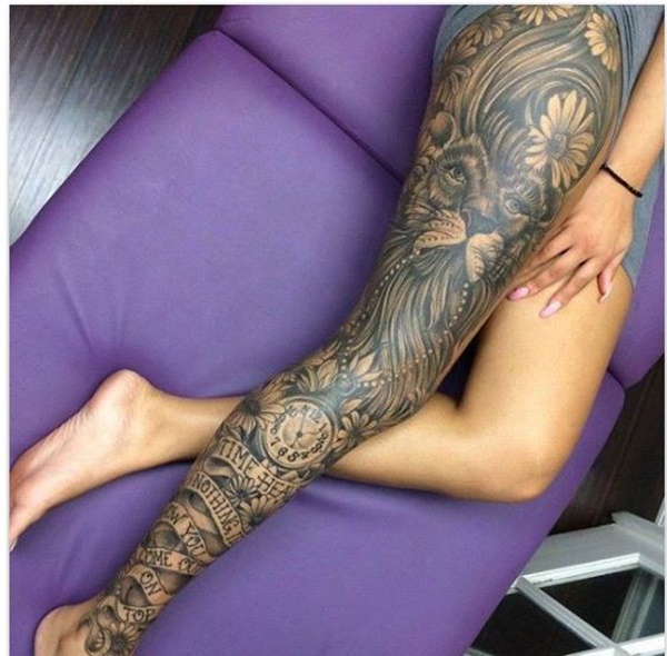female leg tattoos ideas (7)