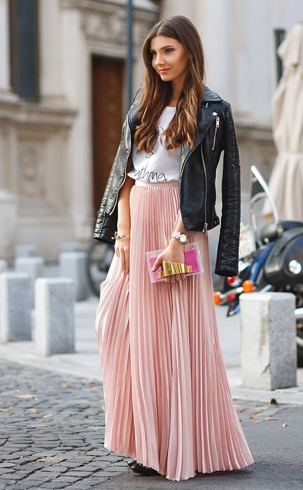 how to wear 60 maxi skirt