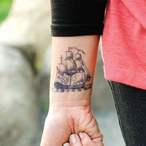 meaningful boat tattoo design examples 01