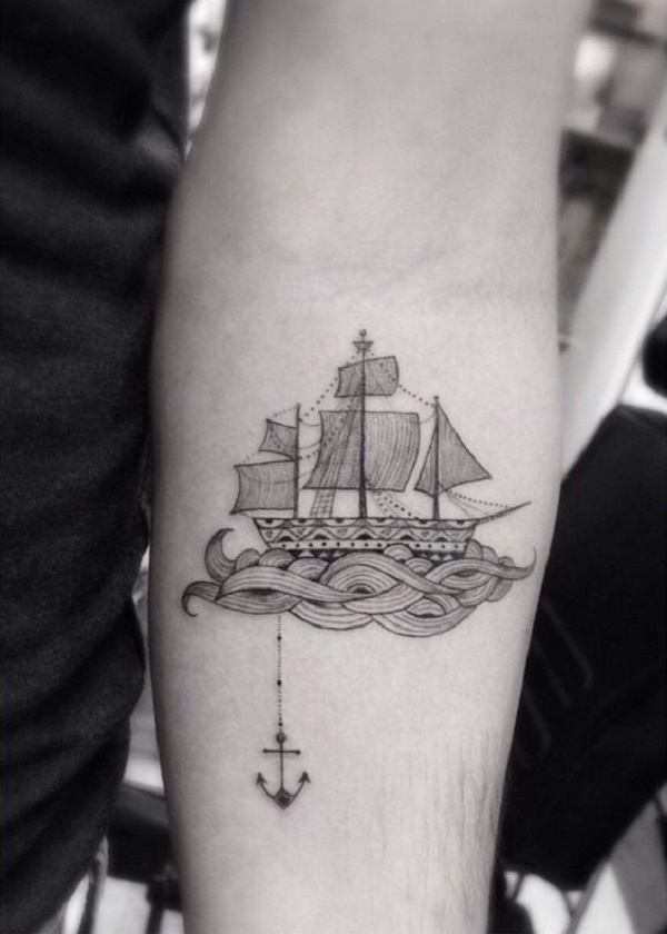 meaningful boat tattoo design examples
