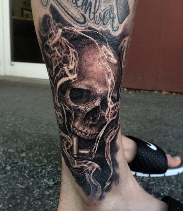 85 scary skull tattoo designs to ink lava360 for Electric hand tattoo
