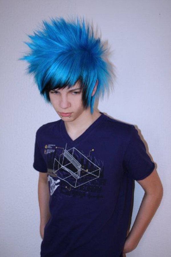 Dark Blue Emo Hairstyle 00