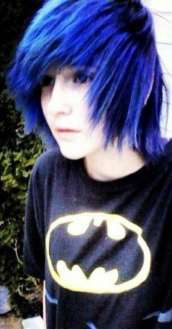 Dark Blue Emo Hairstyle