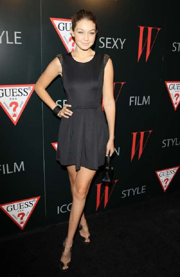 She looked elegant in a classic LBD at W Magazine & Guess style party in West Hollywood, California on Jan. 8, 2013.