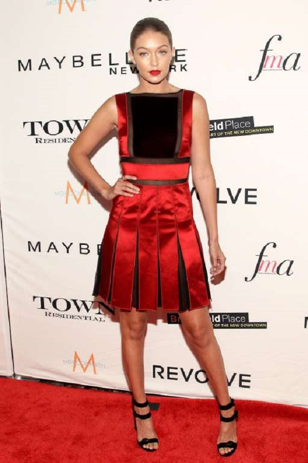 She chose a stunning Tommy Hilfiger dress for The Daily Front Row's Third Annual Fashion Media Awards in New York City on Sept. 10, 2015.