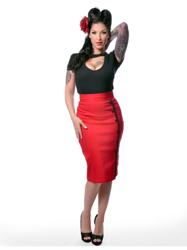 Stylish Pencil Skirt outfit examples vintage style 04
