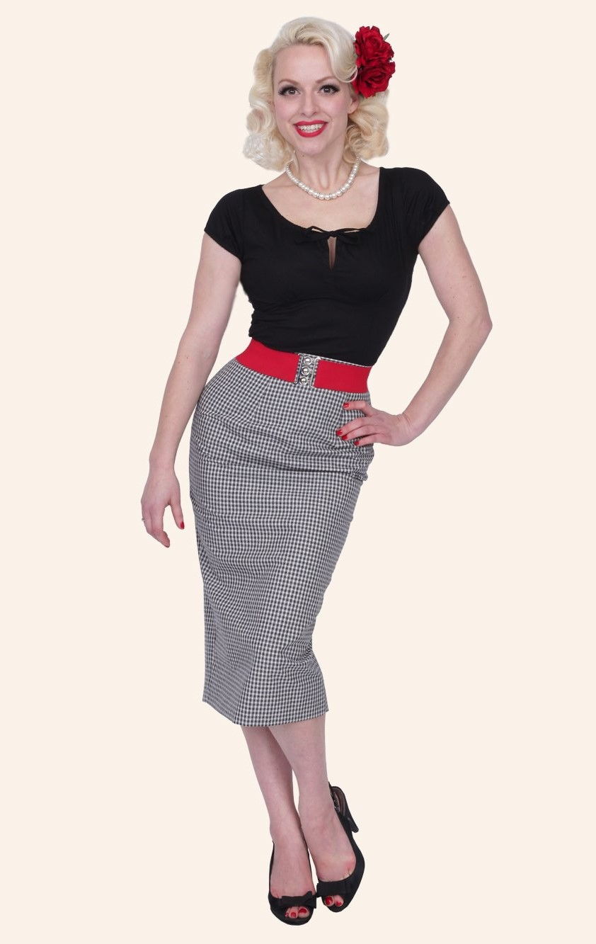 Stylish Pencil Skirt outfit examples vintage style00