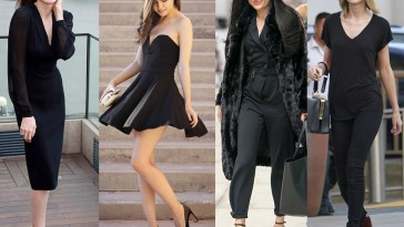 Hot Black on Black Outfits