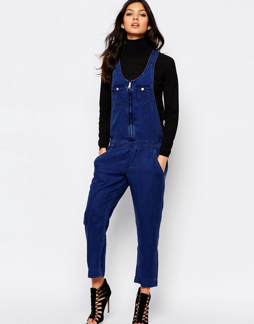Replay Slouchy Denim Jumpsuit
