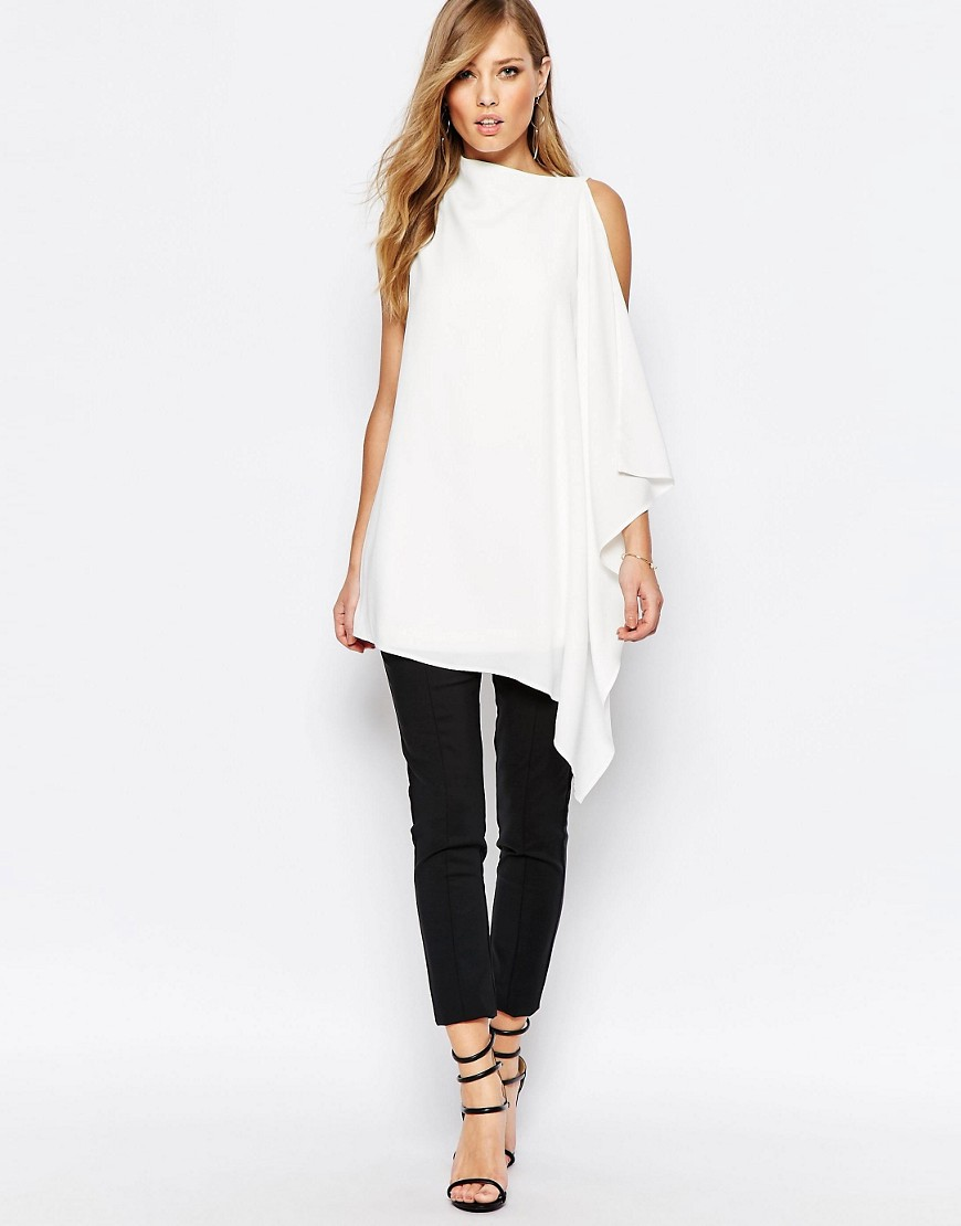 Keepsake Foundations white Tunic Top in Ivory