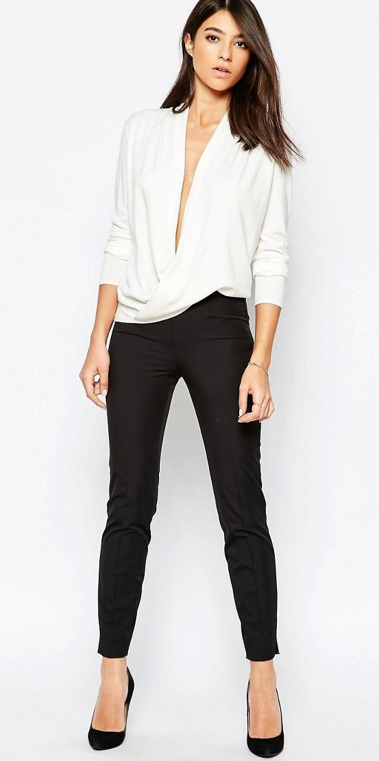 Reiss Fleur Knit with Wrap Front