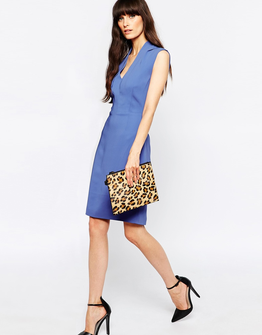 sleeve less work dress Reiss Cassia Fitted Pencil Dress