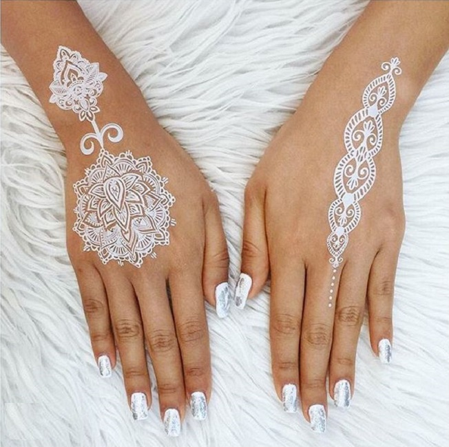 Cute and Tiny glittery and white Temp Tats for Girls 1.14