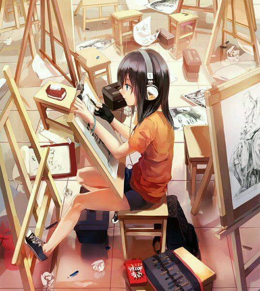anime-room-with-artist-girl-1