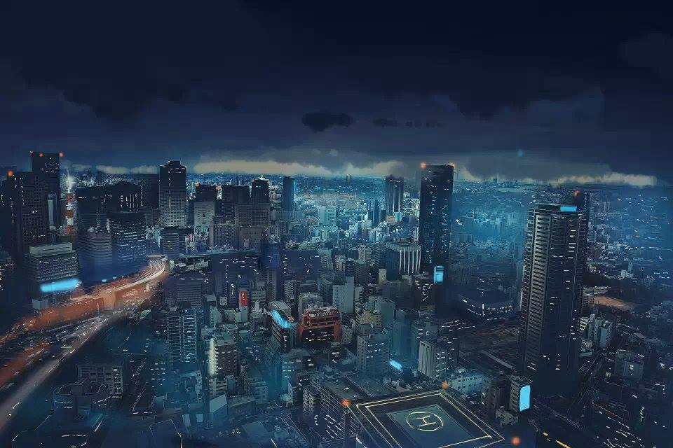 city-at-night-artwork