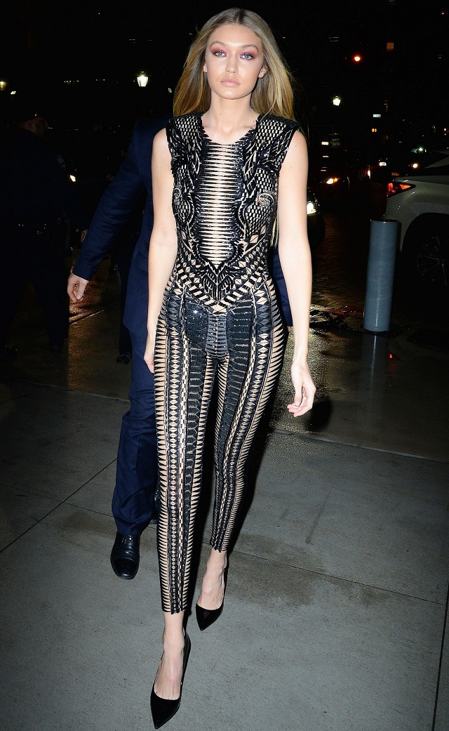 gigi-hadid sheer jumpsuit