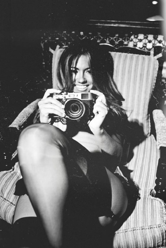 girl with camera photo black and white photography 43 Jessica Burciaga