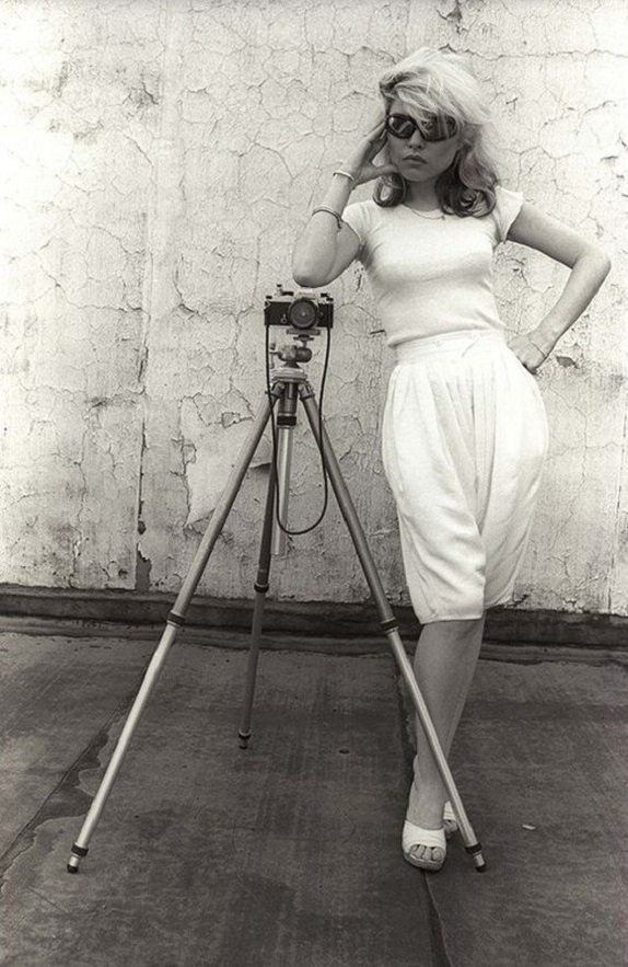 girl with camera photo black and white photography 46 Debbie Harry 1978
