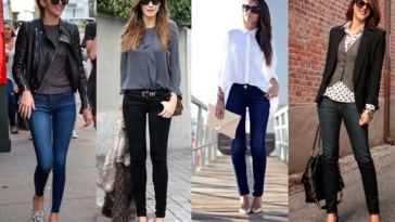 Hot Skinny Jeans Outfits For Girls