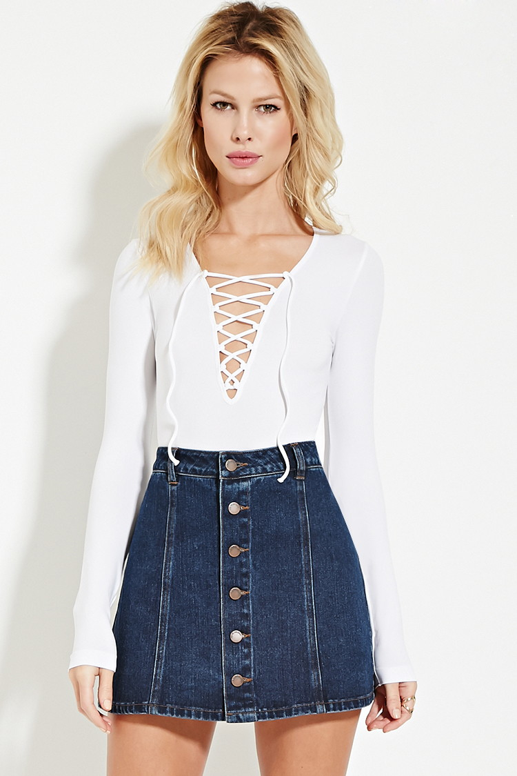 Lace Up Tops 10