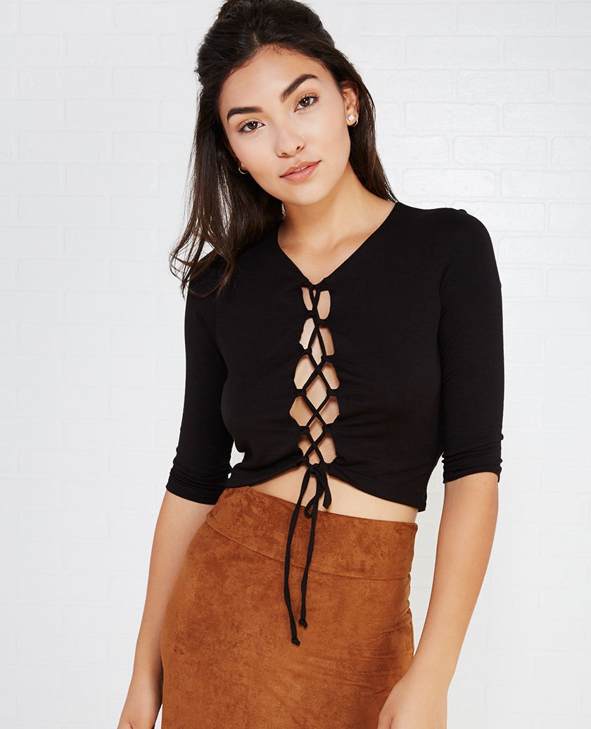 Lace Up Tops 17