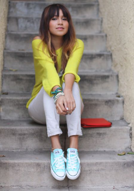Rainbow colored shoes 30