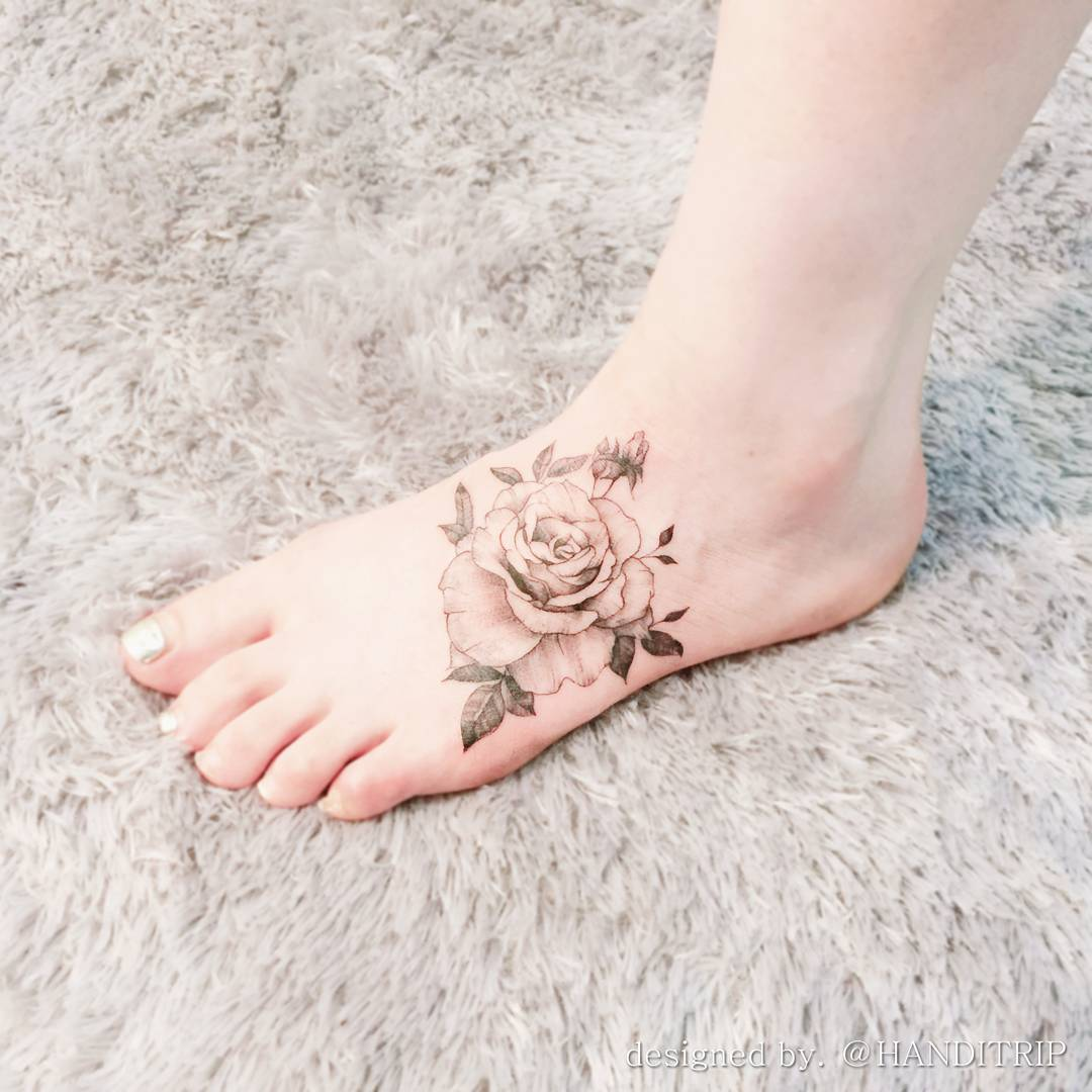 flower tattoo designs foot 75