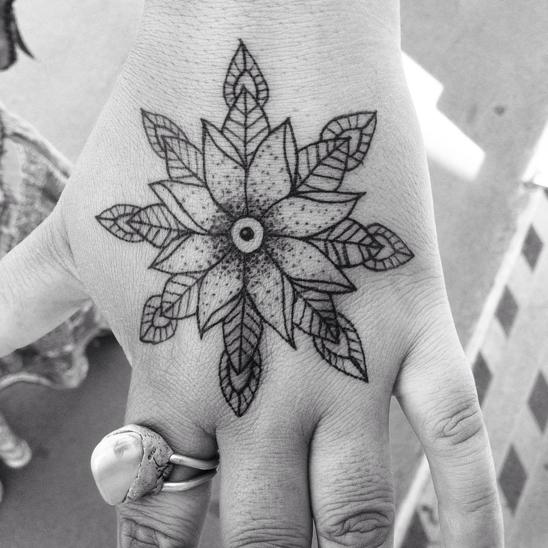 flower tattoo designs hand 71