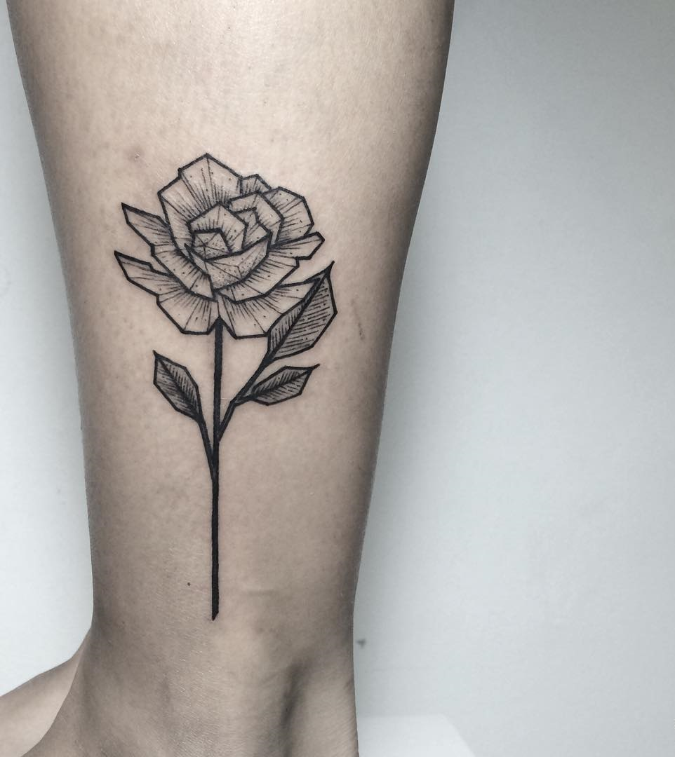 flower tattoo designs leg 60
