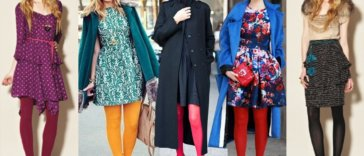 bright color tights and leggings outfits