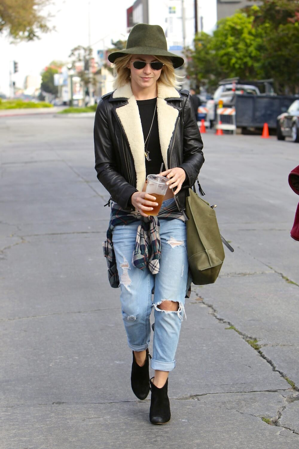 Julianne Hough and Cara Santana ripped jeans celebrity street style