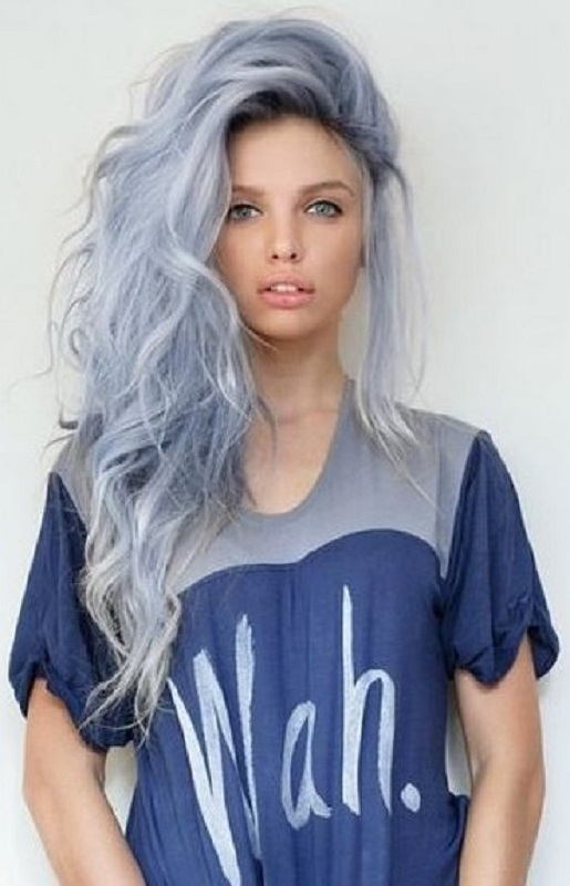 Women Grey Blue Hair Color Trends For All Season And All Ages Lava360