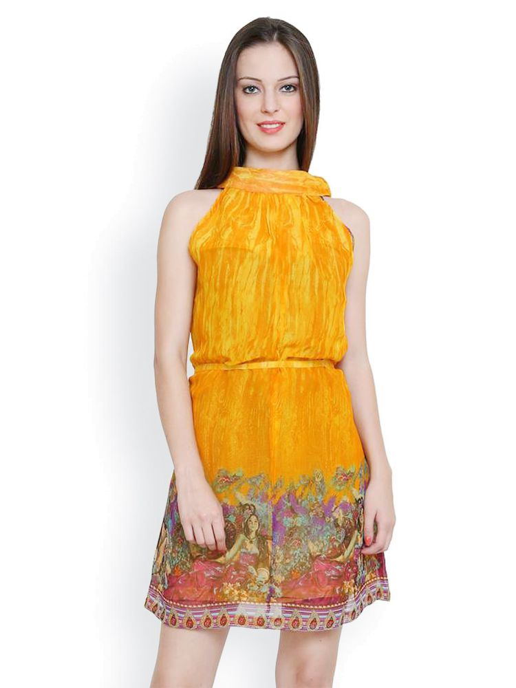 tapyti-poly-georgette-mustard-color-dress