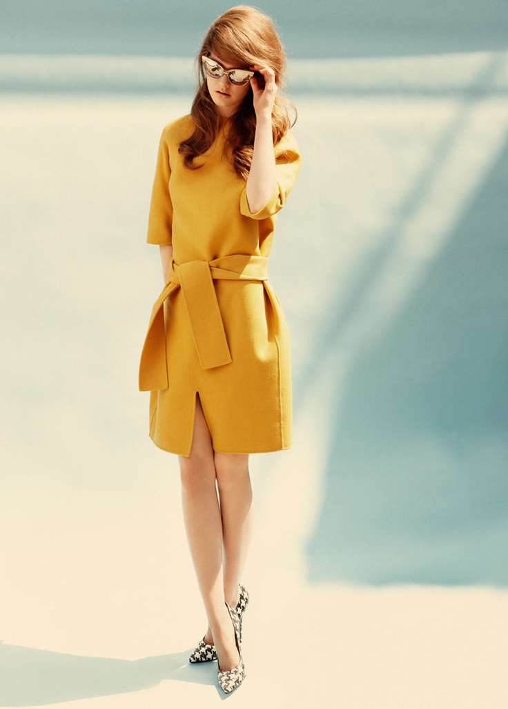 mustard-color-dress-street-coat-style
