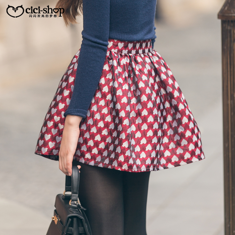 fluffy-skirts-heart-printed