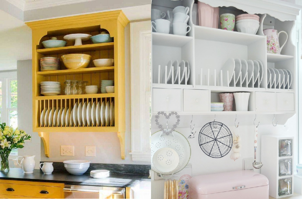 storing kitchen items