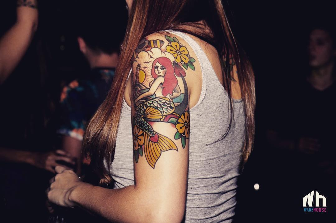 arm-color-lovely-mermaid-tattoos