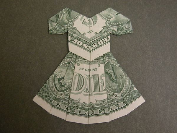 banknotes origami