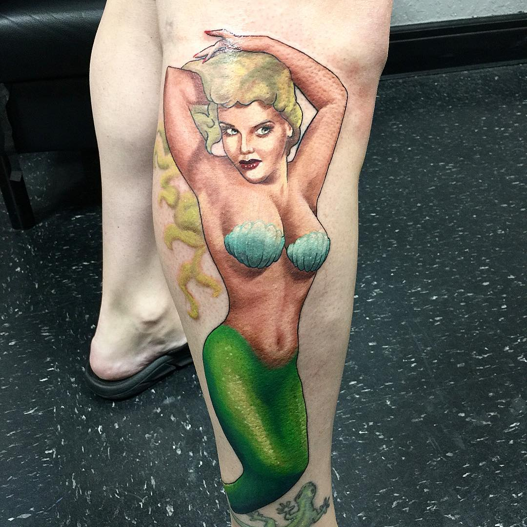 leg-lovely-mermaid-tattoos-2
