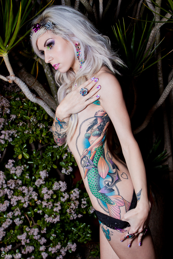 side-lovely-mermaid-tattoos