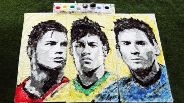 artist hong yi cr neymar messi